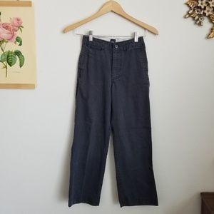 Gap Kids Grey Pinstripe Khakis Size 8